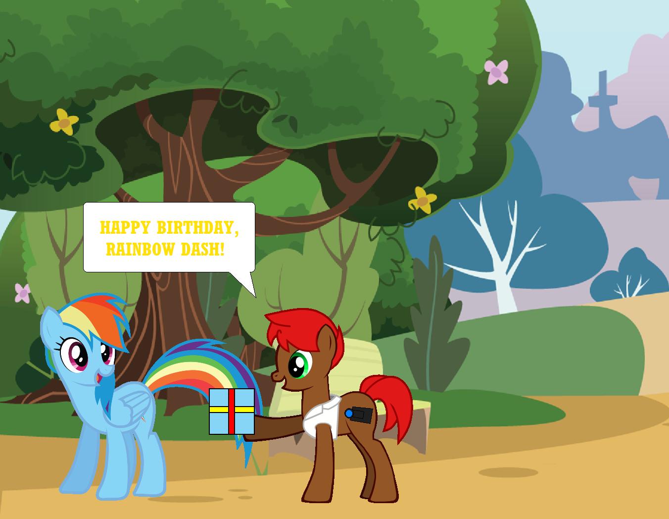 Happy Birthday Rainbow Dash By Eli J Brony