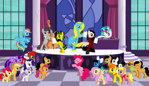 Ponies At Canterlot Stage