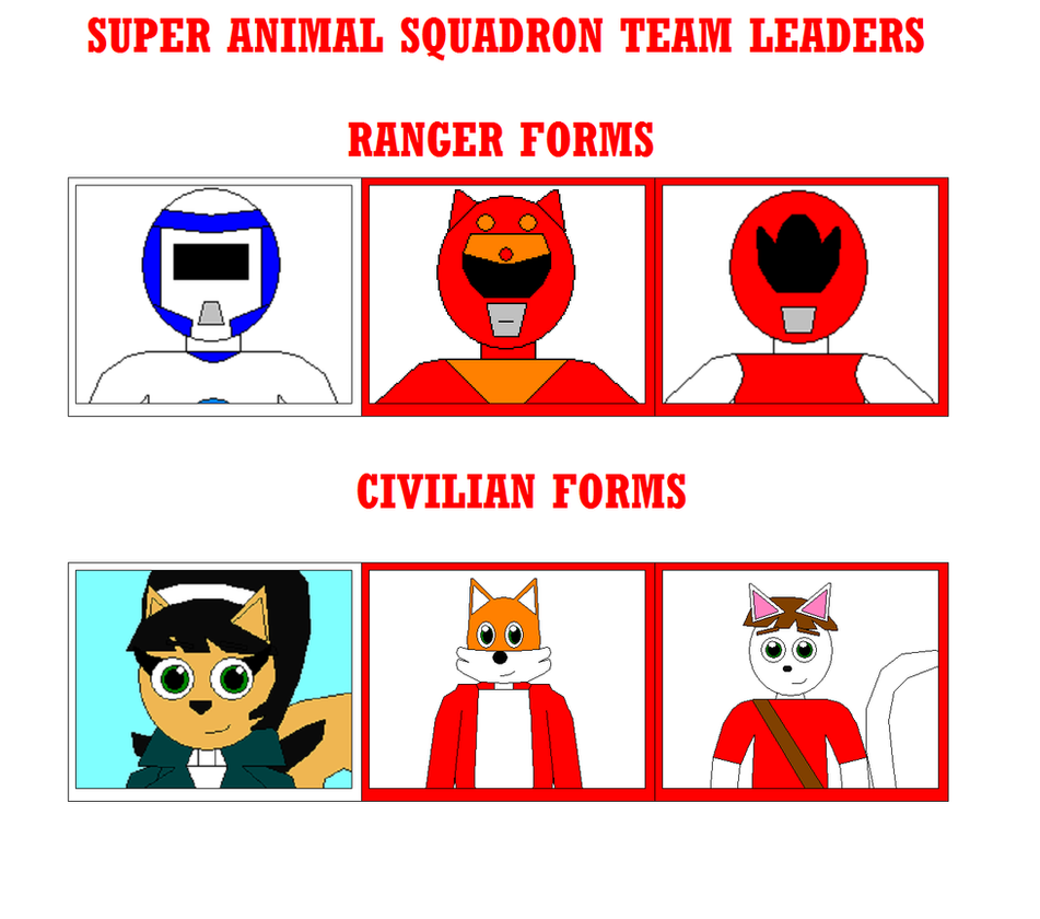 Super Animal Squadron Leaders by Eli-J-Brony