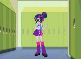 Sci-Twi Dressed In Pony Twi's Clothes by Eli-J-Brony