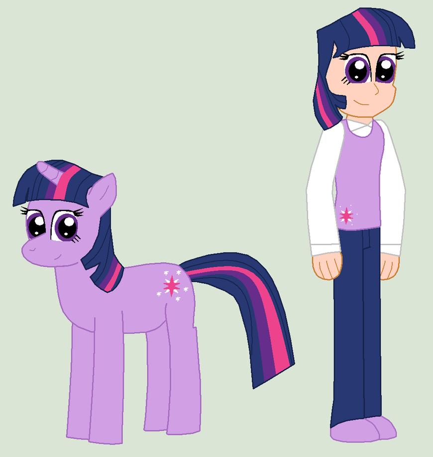 Pony and Human Twilight by Eli-J-Brony