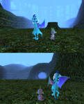 Ember and Spike At the Beginning of Majora's Mask by Eli-J-Brony