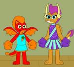 Dragon Cheerleaders by Eli-J-Brony
