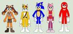 Sonic Boom Cast In Socks by Eli-J-Brony