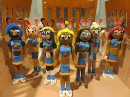 Model Magic Cheer Bunnies Group 4