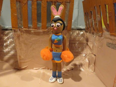 Model Magic Cheerleader Hayai with Pom-Poms