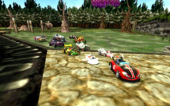 Mario Kart Racing In Termina