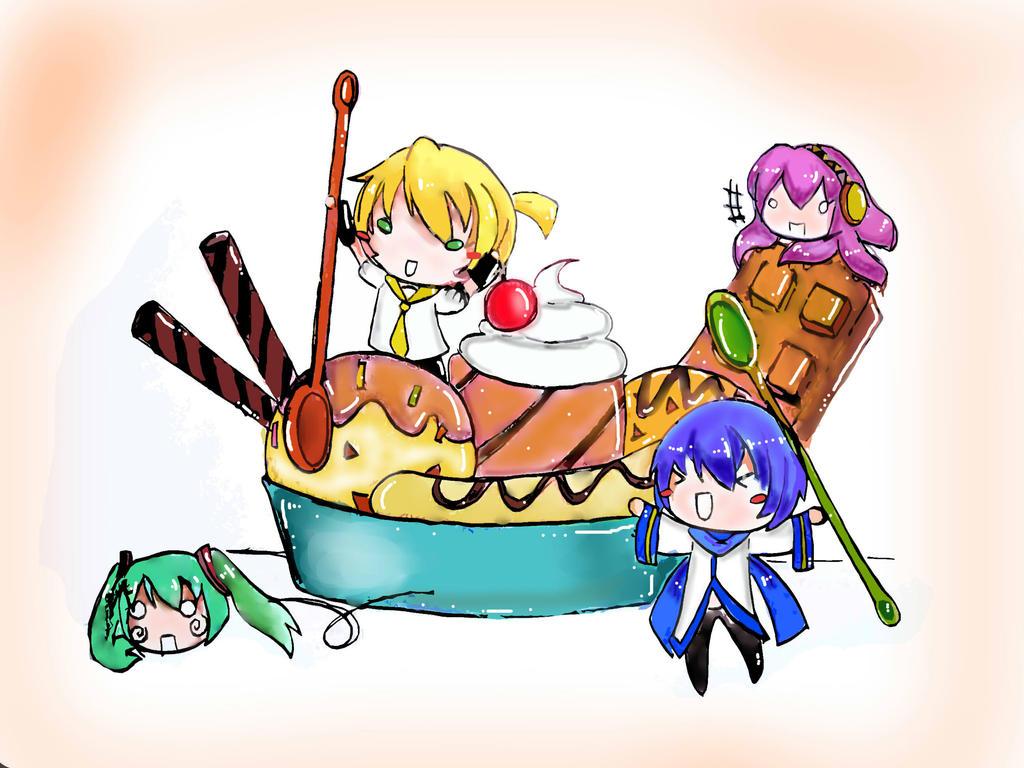 banana ice cream by yami-neko2912