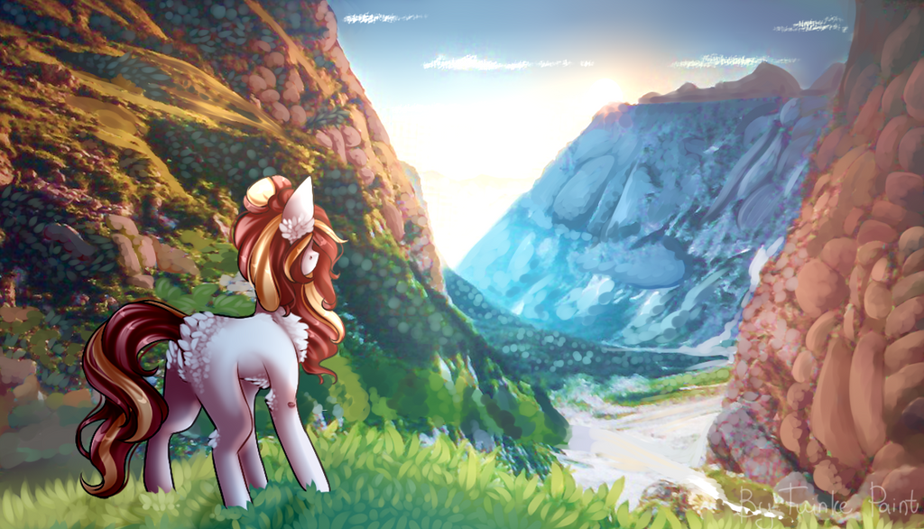 Little poneh in the mountains[G] by TwinkePaint
