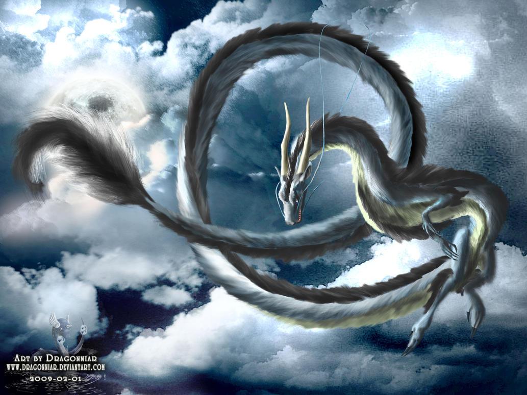 Eastern dragon in the sky by Dragonniar