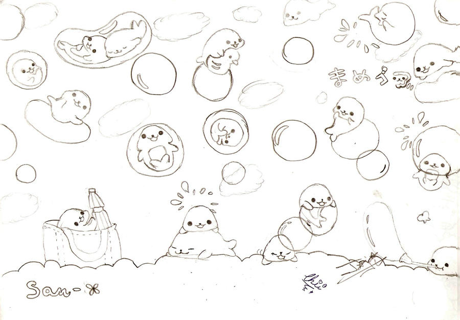 kawaii coloring pages mamegoma images - photo#3