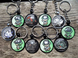 For Sale: N+Team Dot Sprite Campaign Keychains~