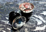 New items: Custom Trading Card Earrings + Gauges! by BlackManaBurning