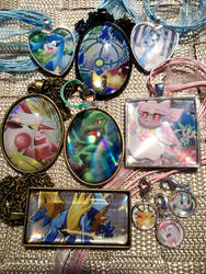 OPEN - Trade/Exchange! Trading Card Glass Charms