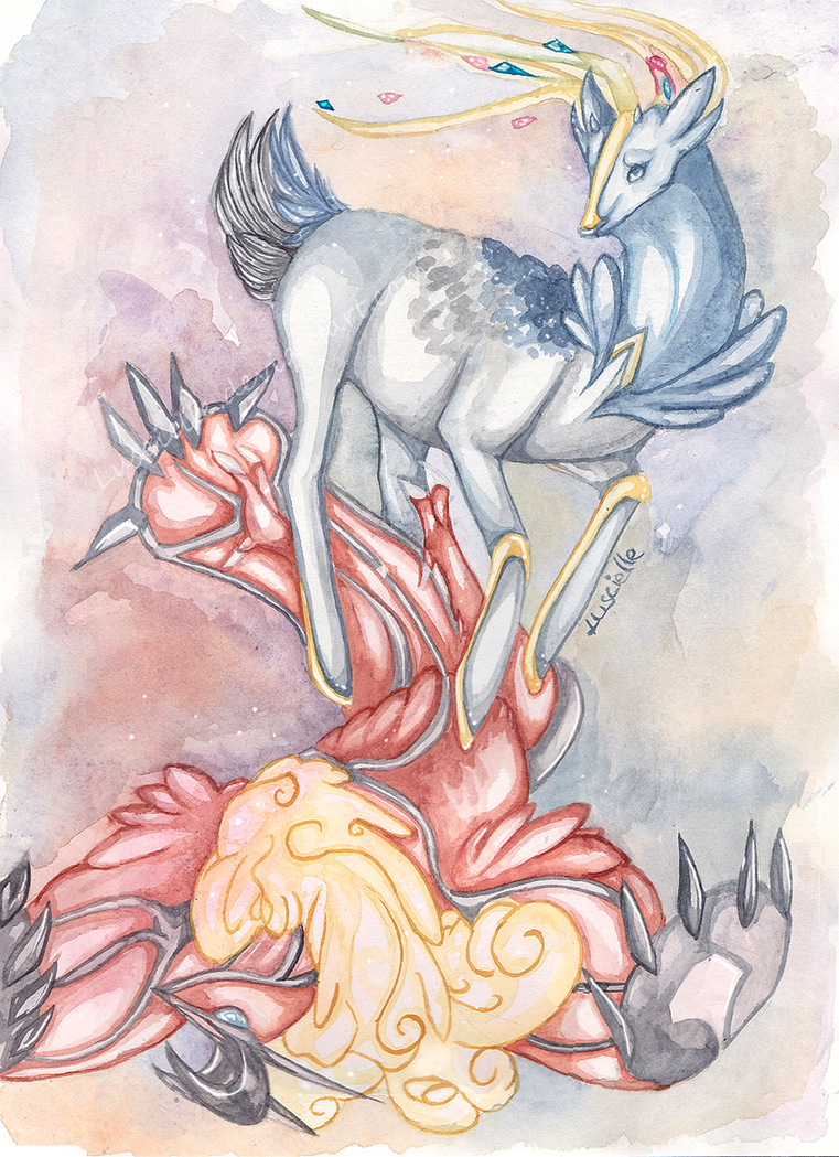 Xerneas and Yveltal by Luscielle on DeviantArt