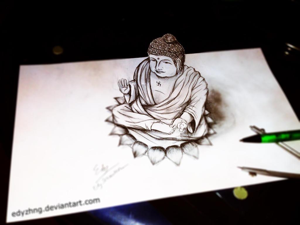 Pencil drawing wallpaper iphonehammad ali pencil drawing drawing 3d drawing buddha by edyzhng on deviantart altavistaventures Choice Image