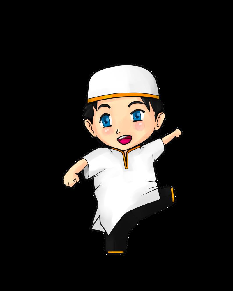 Gambar Anime Pemuda Islami