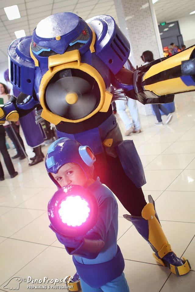 Megaman and Airman by nandolopal
