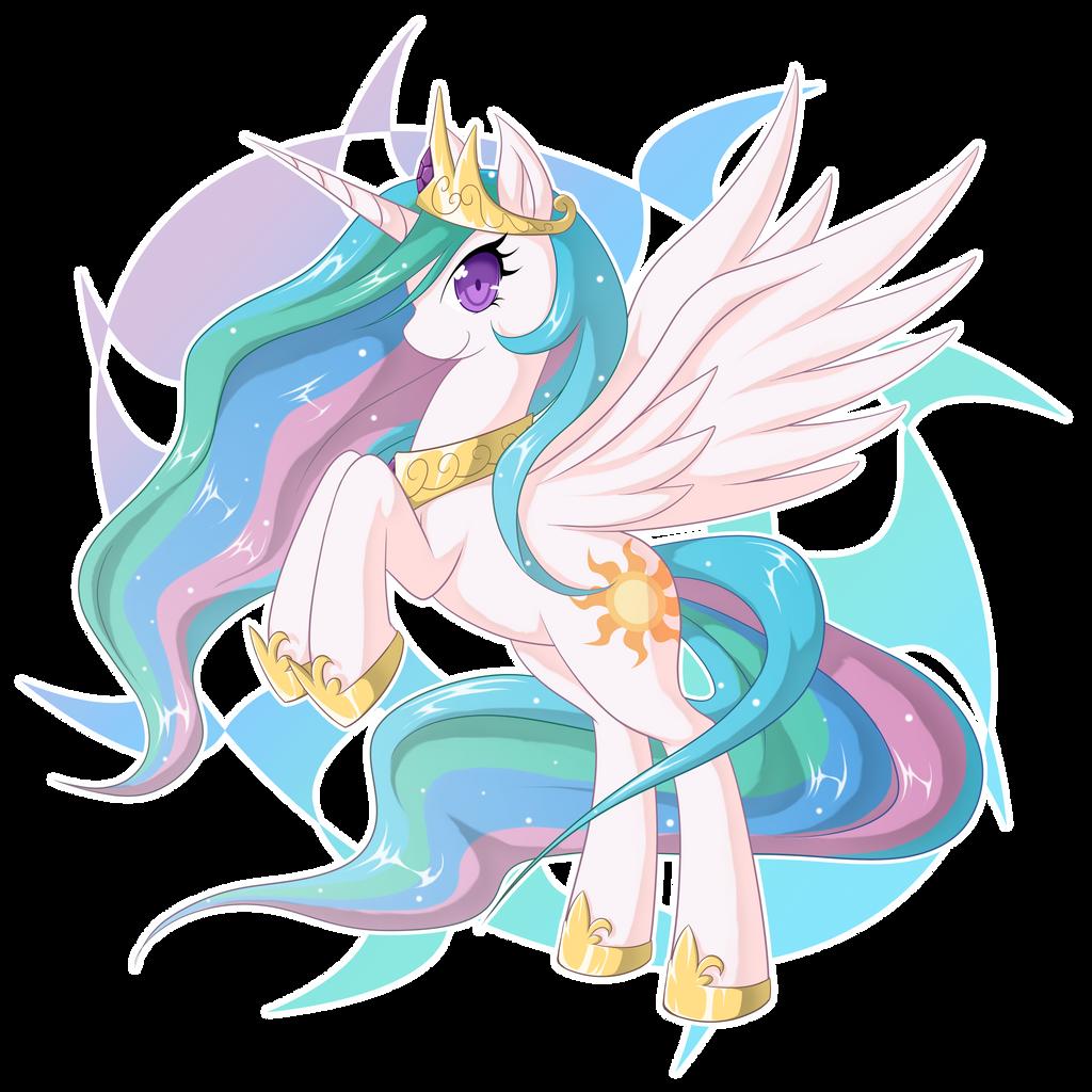 Princess Celestia by zaiyaki