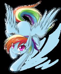 RainbowDash by zaiyaki