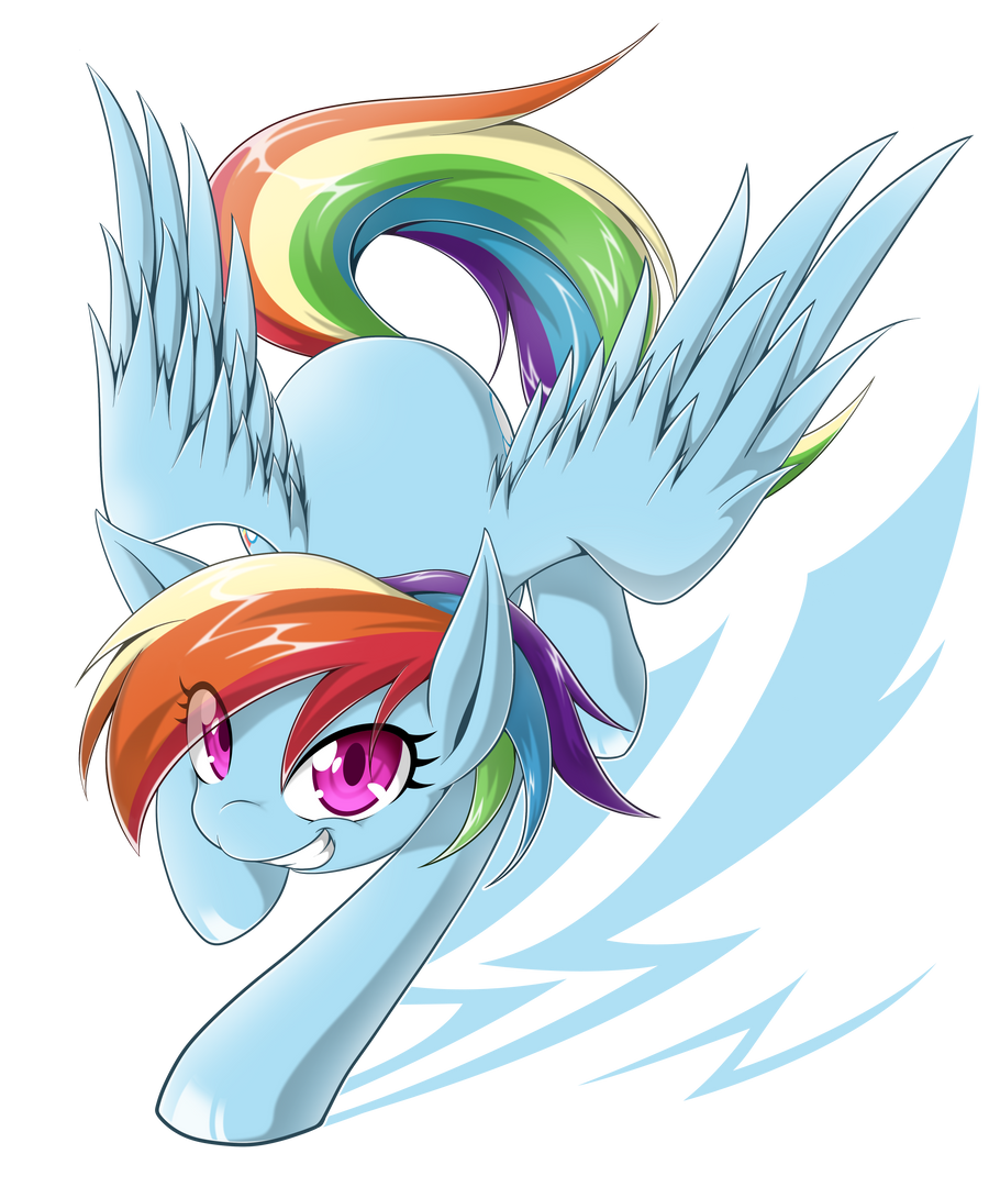 RainbowDash by zaiyaki