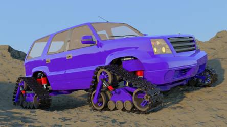 Jeep with tracks