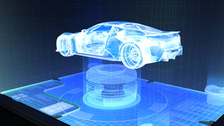 Holografic car