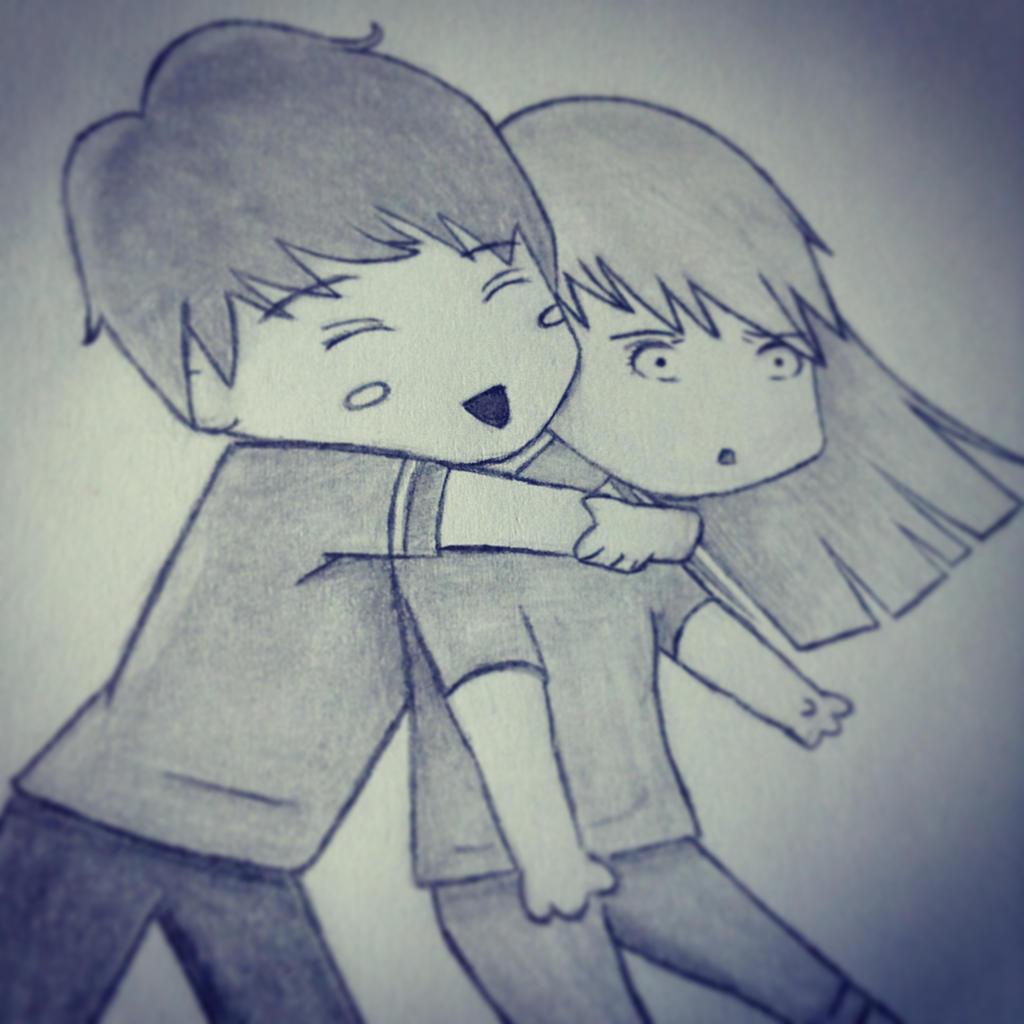 chibi hug by imamarwal on deviantart
