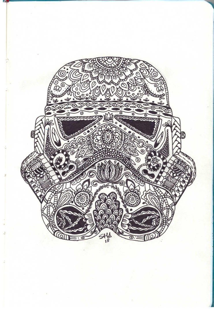 stormtroopers helmet zentangle by sushann on deviantart. Black Bedroom Furniture Sets. Home Design Ideas