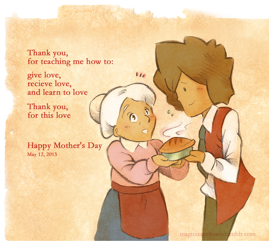 Mother's Day: Young Hershel and Lucille by MagicianCelemis