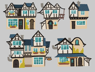 Concept : houses by Damzelle