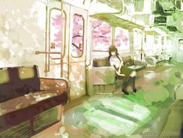 Pass the sakura blossom by yirumi