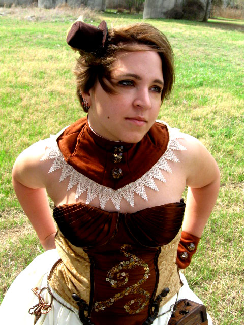 steampunk dress 4 by voodoo-cosplay