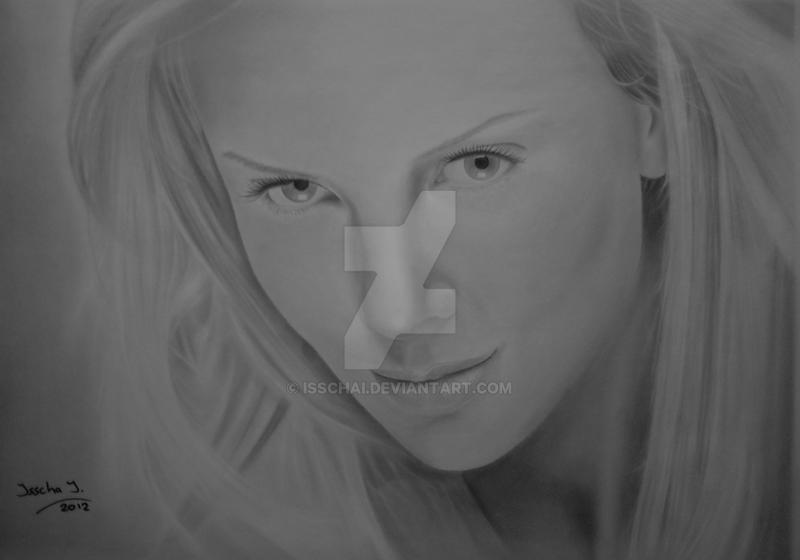 Charlize Theron Drawing by IsschaI