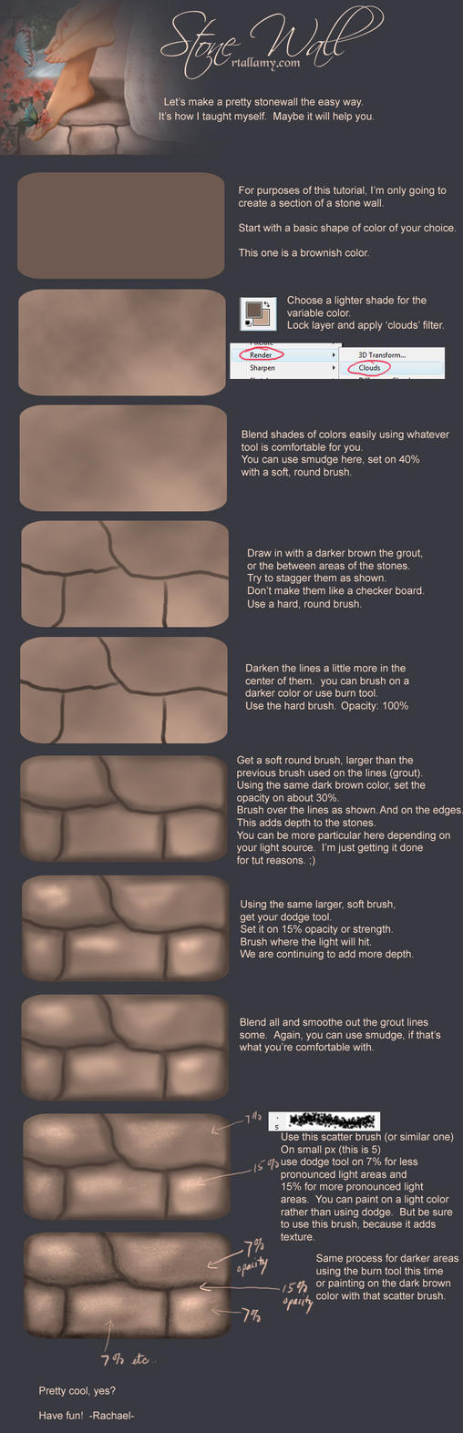 Stone Wall tutorial by Rach-Resources