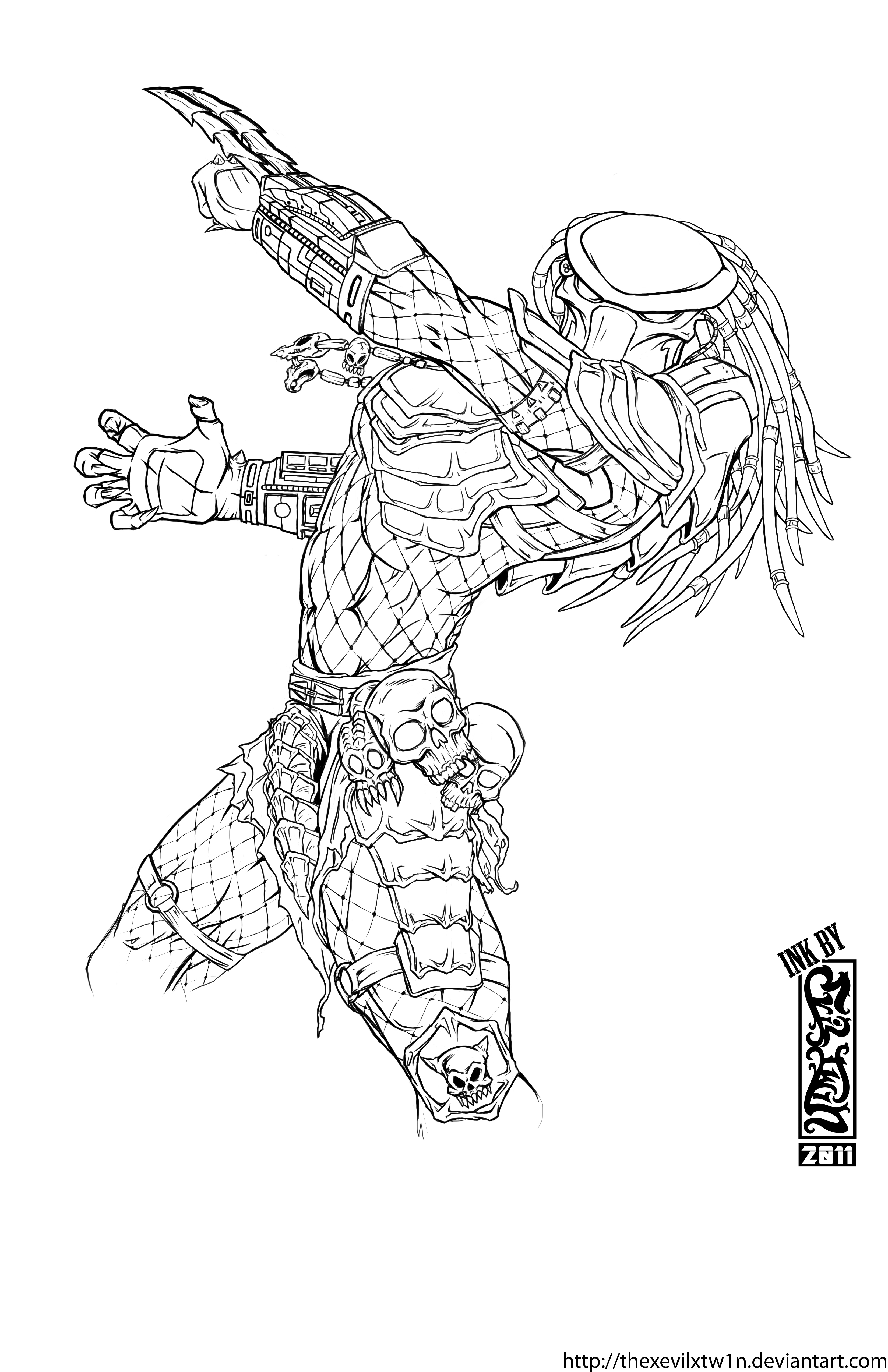 predator alien coloring pages - photo#26