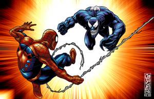 Spider Man Vs. Venom by THExEVILxTW1N