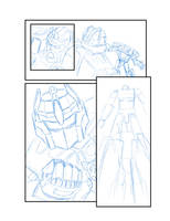 Rough Sketch of Transformers Comic by THExEVILxTW1N