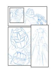 Rough Sketch of Transformers Comic