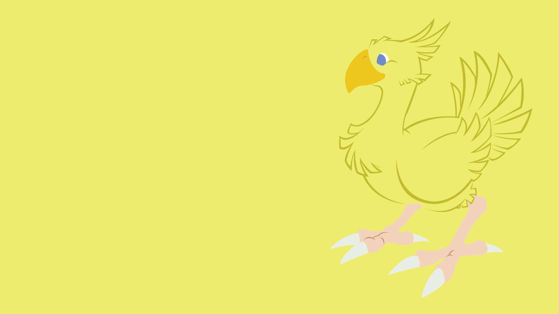 Top Wallpaper Bird Minimalist - chocobo_by_dashinghero-d5mdw9r  Best Photo Reference_539760.png