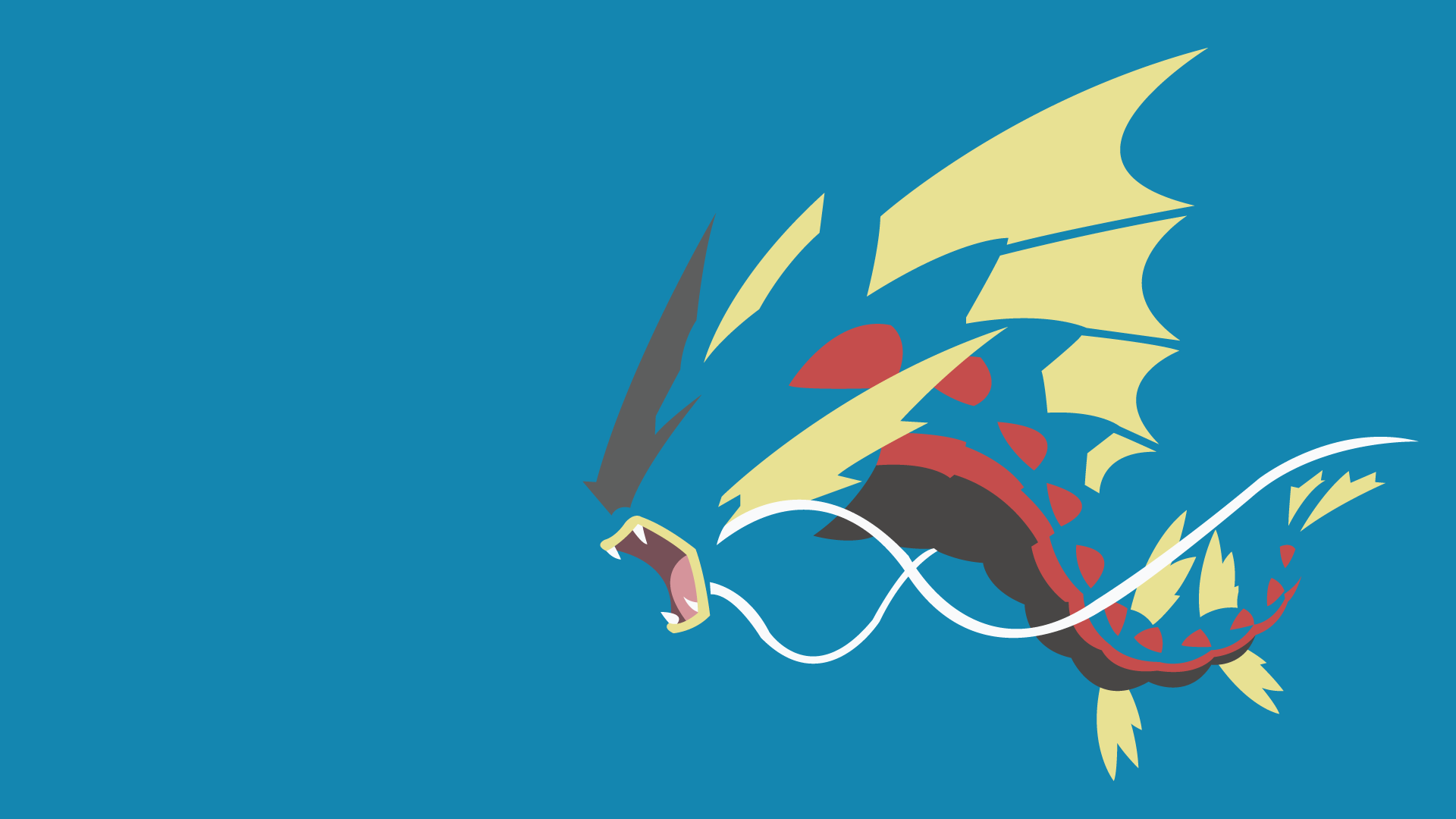 Mega gyarados by limecatmastr on deviantart for Going minimalist