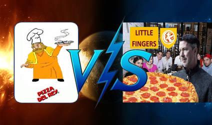 Pizza Del Rey Vs Little Fingers Pizza by amorsatanico