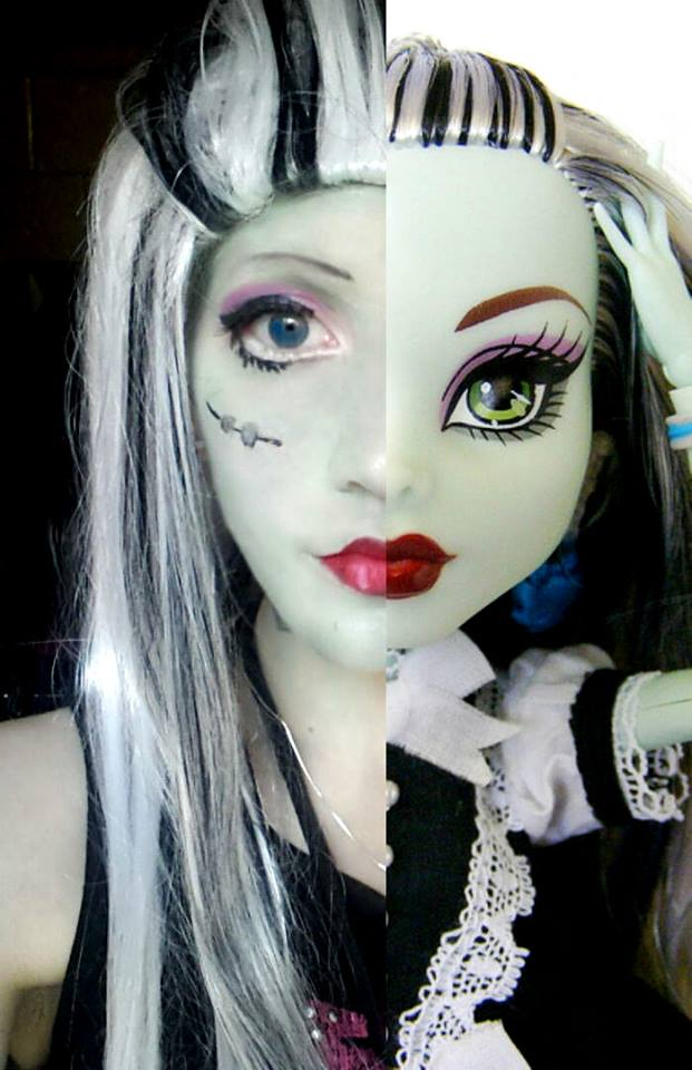 Monster High Frankie Stein Cosplay Costume Make Up by ...
