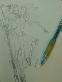 Overwatch: Mercy Sketch