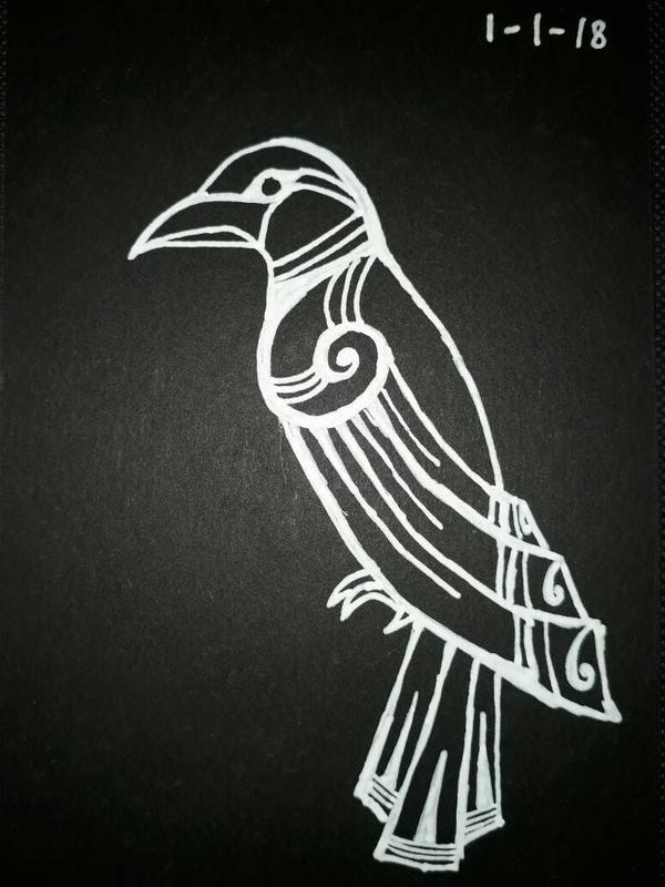 Viking crow by Sevenkat