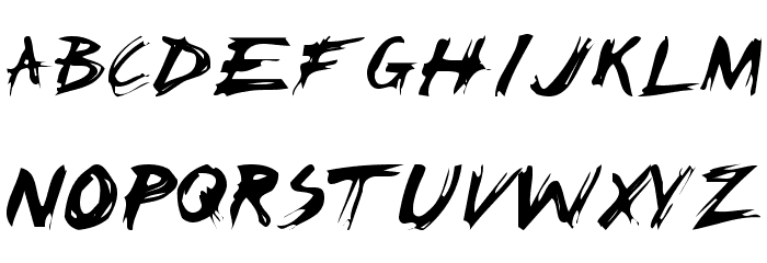 Claw Scratch Font Letter – Billy Knight