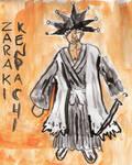 Zaraki Kenpachi watercolour