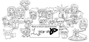 1 Year on DA Lineart