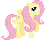 Fluttershy Lineart   By Pikachu344 Colored