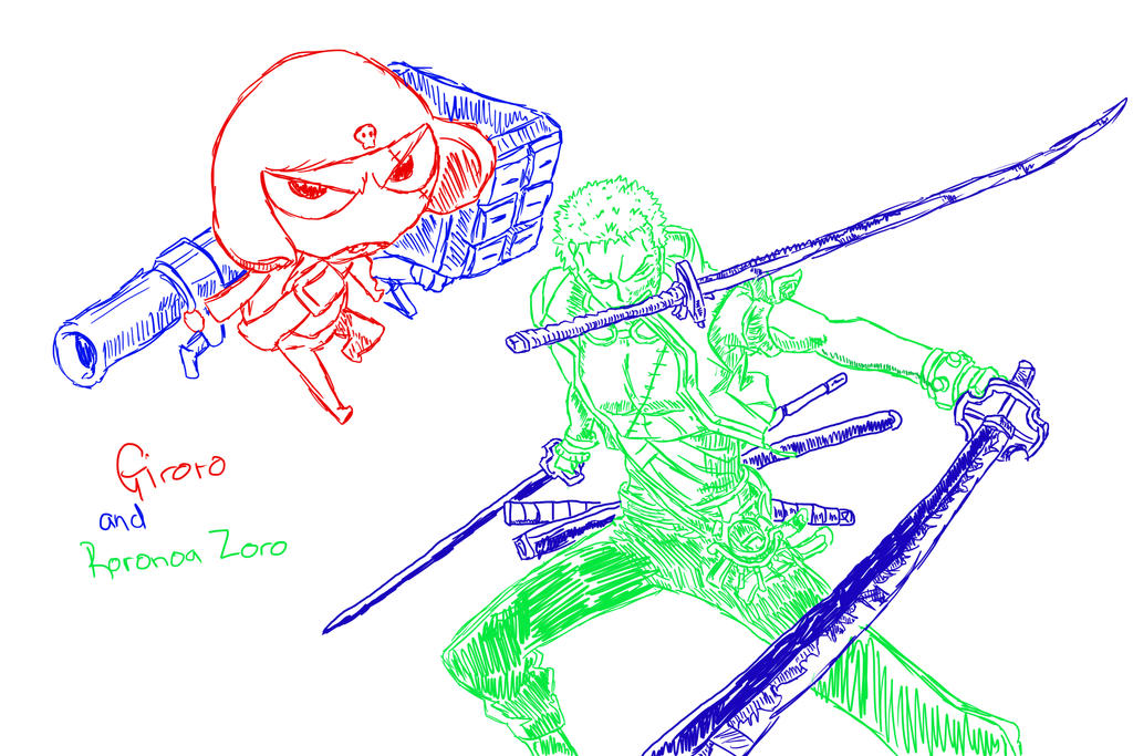Zoro and Giroro by Neighthirst
